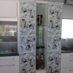 printed glass doors