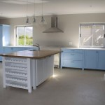 mdf shaker modern country minello blue