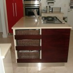 mdf high gloss cream and red
